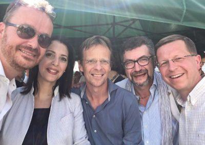 Avec Zakia Khattabi et Patrick Dupriez